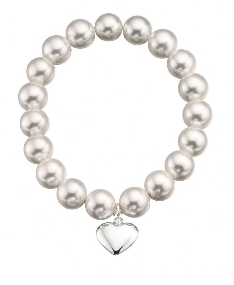 Pearl Bracelet with Heart Pendant